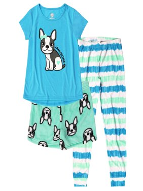 Girl's 3 Piece Pajama Sleep Set (Big Girls & Little Girls)