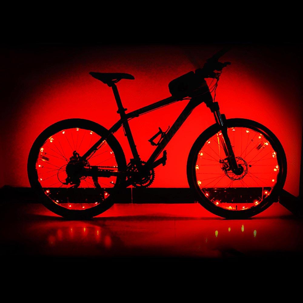 2pcs 32 LED Lights For Bike Bicycle Cycling Wheel Rim Flower Spoke String Strip
