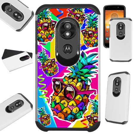 For Motorola Moto G6 Play | Moto G6 Forge Case Hybrid TPU Fusion Phone Cover (Pineapple Party)](Phone Party)