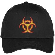 3a75ee2673fbd Trendy Apparel Shop Biohazard Symbol Embroidered Dad Hat Baseball Cap -  Black
