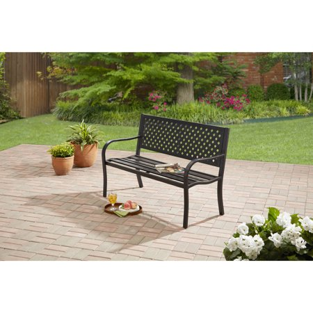 Mainstays Steel Bench (Bench Garden Decor)