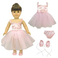 """Doll Clothes - Ballet Ballerina Fits American Girl & Other 18"""" Inch Dolls"""