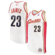 5b317fe67 LeBron James Cleveland Cavaliers Mitchell & Ness Swingman Jersey - White
