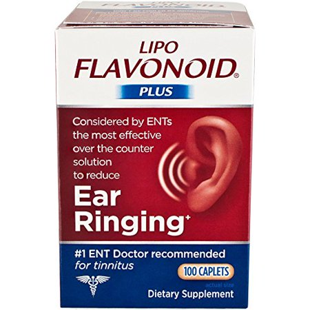 - Lipo-Flavonoid Plus Ear Health Supplement Most Effective Over the Counter Solution to Reduce Ear Ringing #1 Ear, Nose, & Throat Doctor Recommended for Tinnitus, 100 Caplets