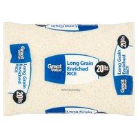 Great Value Long Grain Enriched Rice, 20 lb