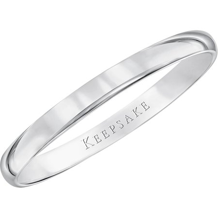 2mm Narrow Band (10kt White Gold Wedding Band With High-Polish Finish, 2mm )