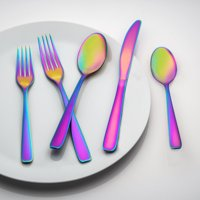Cranston Rainbow Mirror Flatware Set, 20 Piece