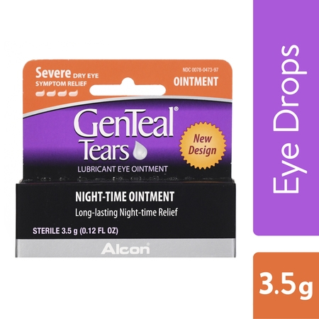 (2 pack) GENTEAL Tears Severe Eye Ointment for Severe Dry Eye Symptom Relief, 3.5g (Tears Again Eye)