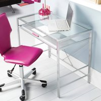 Mainstays Versatile Modern Glass-Top Desk, Multiple Colors