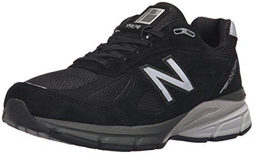 new balance men's m990bk4 running shoe black/silver