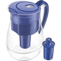 Brita Large Water Filter Pitcher with 1 Longlast Filter, Reduces Lead, BPA Free - Monterey, Blue, 10 Cup