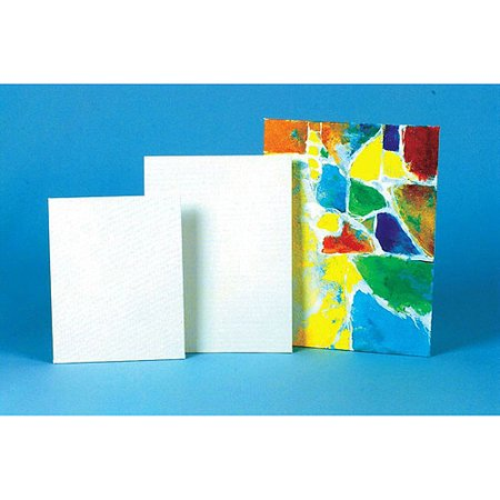 Sax Genuine Canvas Panels Choice of Size, White, Case of 36 - Bulk Canvas Panels