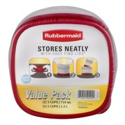 Rubbermaid Value Pack Easy Find Lids Food Storage Containers, 6 containers