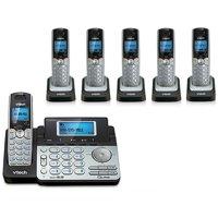 Vtech DS6151 + DS6101-5 Expandable 2-line Cordless Phone w/ Enhanced Security