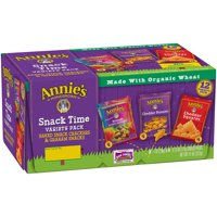 (2 Pack) Annie's® Snack Pack Variety Cheddar Bunnies/Friends Bunny Grahams/Cheddar Squares Crackers 12 ct 11 oz