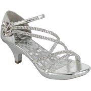 Angel-48 Women Party Evening Dress Bridal Wedding Rhinestone Platform  Kitten Heel Sandal Shoe Silver f54c4326337c