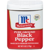 McCormick Ground Pepper Black, 6 oz