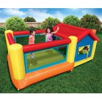 Banzai Big Bounce Play House (Inflatable Backyard Jump Bouncer Castle)