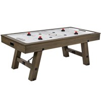 Barrington 7 Ft. Sutter Premium Air Powered Hockey Table, Furniture Style, Oak Grey, 84 Inch, 4 pushers and 4 pucks
