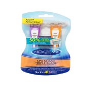 (2 pack) Noxzema® Spa Shave Triple-Blade™ Disposable Razors, 4 ct.