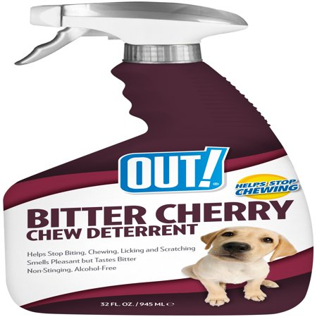 OUT! Bitter Cherry Dog Chew Deterrent, 32 - Time Out Training Spray