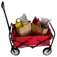 Heavy Duty Folding Utility Wagon Wheelbarrow Garden Cart Sports Cart Shopping Buggy