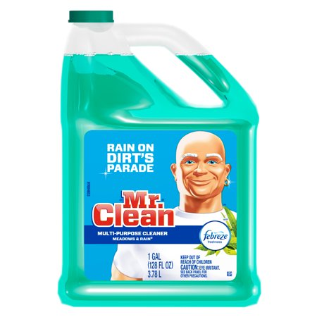Mr. Clean Liquid Multi-Purpose Cleaner with Febreze, Meadows & Rain, 128 fl oz ()