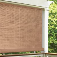 "Radiance Cordless 1/4"" PVC Roll-Up Outdoor Sun Shade, Multiple Sizes and Colors"