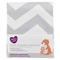 Parent's Choice Changing Pad Cover, Gray and White Chevron