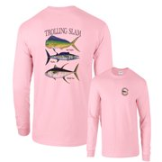 Trolling Slam Bull Dolphin Wahoo Yellowfin Fishing Long Sleeve T-Shirt