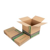 (6 count) 14L x 14W x 14H in. Extra Strength Recycled Kraft Moving Boxes
