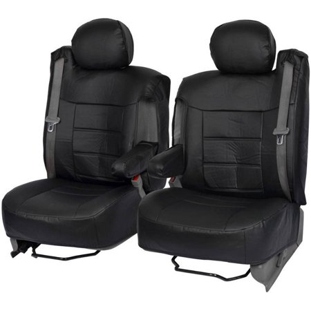 BDK PU Leather Seat Covers for SUV and Pick up Trucks, Arm Rest and Built-In (Impala Armrest)