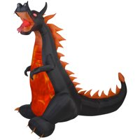 Airblown Inflatables Fire and Ice Dragon Airblown Halloween Decoration