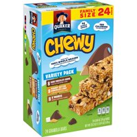 Quaker Chewy Granola Bars Variety Pack, 0.84 oz Bars, 24 Count,
