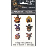 Five Nights at Freddy's Temporary Tattoos, 24ct