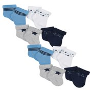 Organic Cotton Wiggle Proof Bootie Socks, 8-pack (Baby Boys)