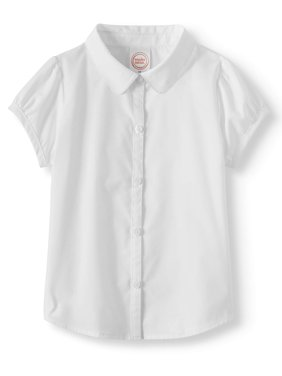 Toddler Girls School Uniform Short Sleeve Poplin Blouse