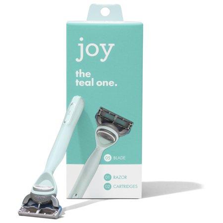 joy Razor, Handle + 2 razor blade refills - Blue Blade