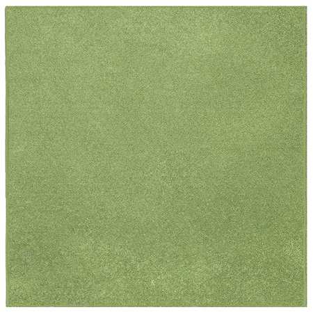 Ambiant Kids Solid Color Area Rugs Lime Green - 3'x5' - Black And White Floor Runner