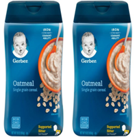 (2 Pack) GERBER Single-Grain Oatmeal Baby Cereal, 16 oz
