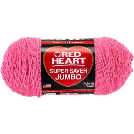 Red Heart Super Saver Jumbo Perfect Pink Yarn, 744 Yd. ()
