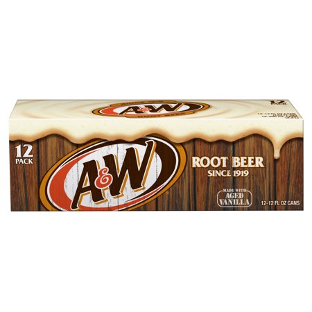 (2 Pack) A&W Root Beer, 12 Fl Oz Cans, 12 (Christmas Age Bear)