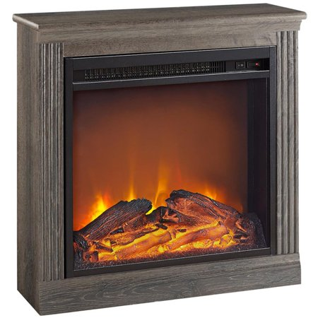 Electric Cherry (Ameriwood Home Bruxton Electric Fireplace, Multiple Colors )