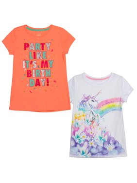 Graphic T-Shirts, 2-Pack (Little Girls & Big Girls)