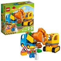 LEGO DUPLO Truck & Tracked Excavator Building Set, 10812