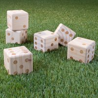 Giant Wooden Yard Dice Outdoor Lawn Game by Hey! Play!