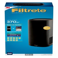 Filtrete by 3M Room Air Purifier, Large Room Tower, 370 SQ Ft Coverage, Black, TRUE HEPA Filter Included
