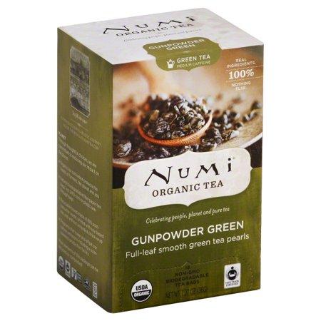 Numi Gunpowder Green Organic Tea Bags, 18 count, 1.27 oz