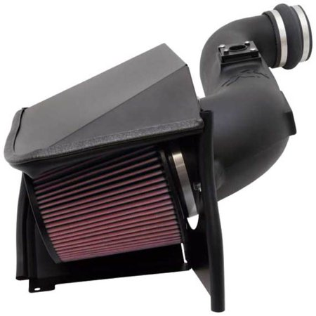 K&N Performance Cold Air Intake Kit 57-3057 with Lifetime Filter for 2005-2007 Chevrolet Silverado, GMC Sierra 6.6L V8 Duramax