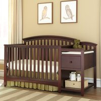 Imagio Baby Montville 4-in-1 Fixed-Side Crib and Changing Table Combo with Pad, Chocolate Mist
